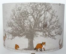 Fryetts Stag and tree Lampshade, Ceiling Light / Table Lamp